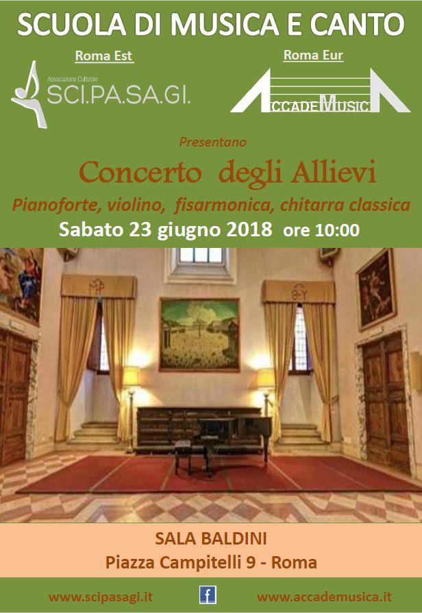 Concerto degli allievi pianoforte, violino, fisarmonica, chitarra classica