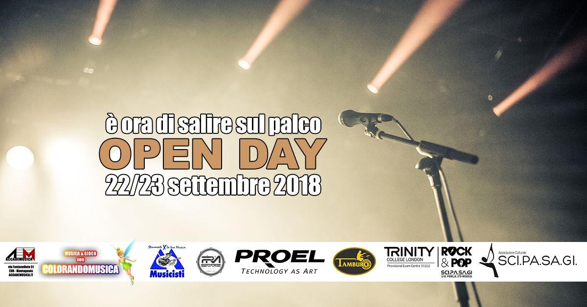 Open Day SciPaSagi 22 e 23 settembre 2018 con loghi
